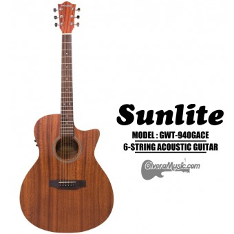 SUNLITE Full Sized Acoustic Guitar Cutaway w/EQ