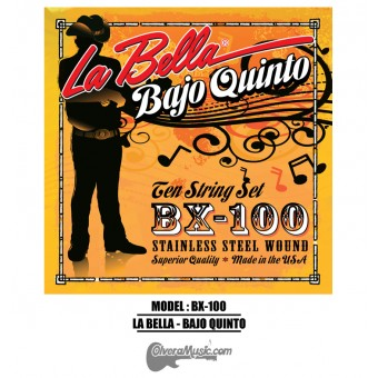 La Bella (BX-100) Bajo Quinto Strings