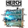 HERCH Bass Drum 20x24 Turquoise w/Engraving 12-Lug
