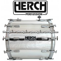 HERCH Bass Drum 20x24 Chrome 12-Lug