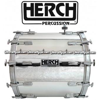 HERCH Bass Drum 20x24 Chrome 12-Lug