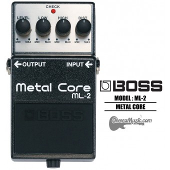 BOSS Metal Core Distortion Guitar Effects Pedal