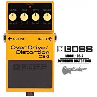 BOSS OverDrive/Distortion Pedal de Efectos para Guitarra