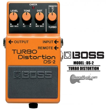 BOSS Turbo Distortion w/Remote Turbo Guitar Effects Pedal