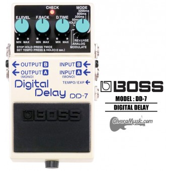 BOSS Digital Delay Pedal de Efectos para Guitarra