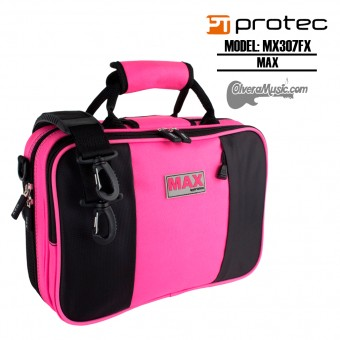 PROTEC MAX Bb Clarinet Case - Fuchsia (Pink)