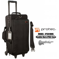 PROTEC iPac Double Trumpet Case w/Wheels