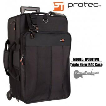 PROTEC iPac Estuche para 3 Trompetas c/Ruedas