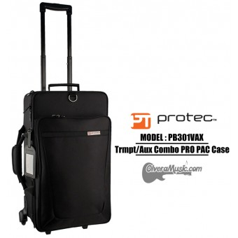 PROTEC Pro Pac Trumpet/Auxiliary Combo Case w/Wheels