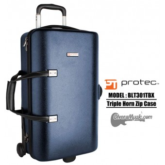 PROTEC Single/Double/Triple Horn Zip Case - Blue