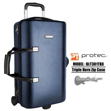 PROTEC Single/Double/Triple Horn Zip Case - Blue