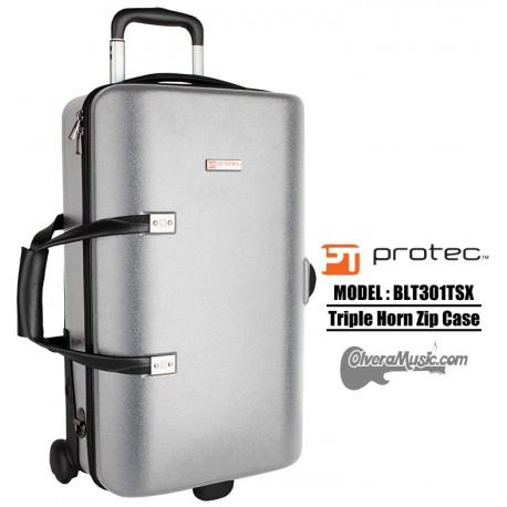 PROTEC Single/Double/Triple Horn Zip Case - Silver