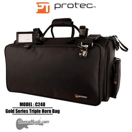 PROTEC Gold Series Triple Horn Bag