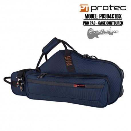 PROTEC PRO PAC Case-Contoured Alto Saxophone - Blue