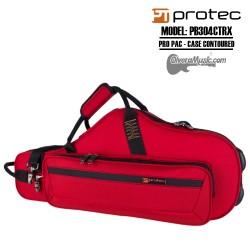 PROTEC PRO PAC Case-Contoured Alto Saxophone - Red