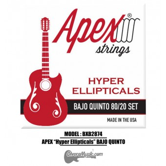 "APEX ""Hyper Ellipticals"" Bajo Quinto Strings - Bronze Set"