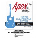 "APEX ""Hyper Ellipticals Cryos"" Bajo Quinto Stainless Steel Set"