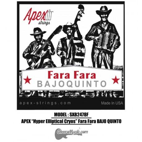 "APEX ""Hyper Elliptical Cryos"" Fara Fara Bajo Quinto Stainless Steel Set"