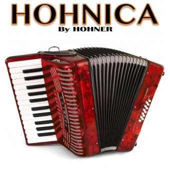 Hohnica by Hohner (1303) Piano Accordion - Pearl Red