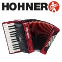 HOHNER Bravo II 48 Piano Accordion - Pearl Red