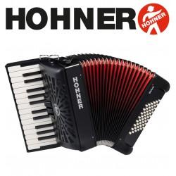 HOHNER Bravo II 48 Piano Accordion - Jet Black