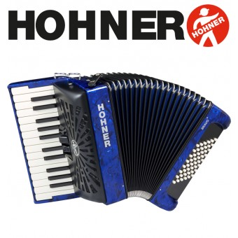 HOHNER Bravo II 48 Piano Accordion - Pearl Dark Blue