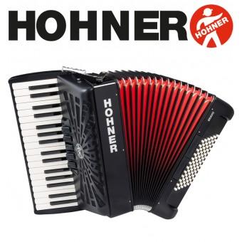 HOHNER Bravo III 72 Piano Accordion 5-Registers - Jet Black