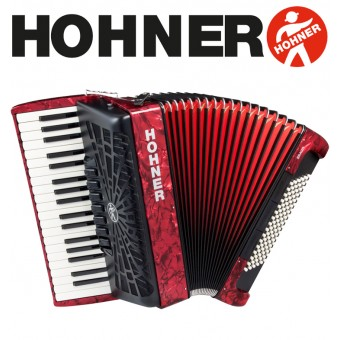 HOHNER Bravo III 96 Piano Accordion 7-Registers - Pearl Red