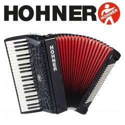 HOHNER Bravo III 120 Piano Accordion 7-Registers - Jet Black