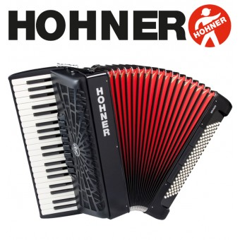 HOHNER Bravo III 120 Piano Accordion 7-Registers - Jet Black