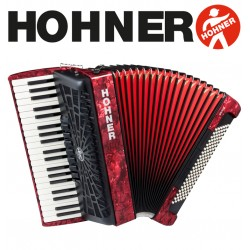 HOHNER Bravo III 120 Piano Accordion 7-Registers - Pearl Red