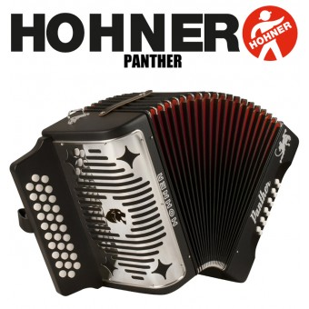 HOHNER Panther Button Accordion - Black