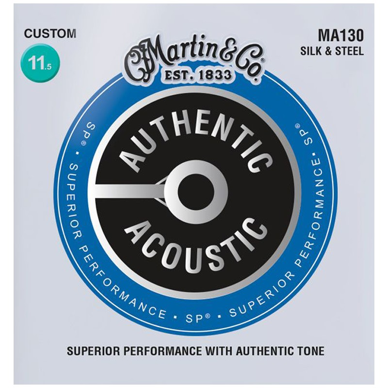 Silk and Phosphor Folk Guitar Strings Compound Wound Martin Silk and Steel
