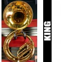 KING Metal Sousaphone Lacquer w/Conn Metal Bell - USED