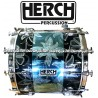 HERCH Bass Drum 20x24 Black/Blue w/Engraving 12-Lug
