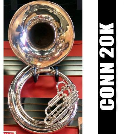 CONN 20K Metal Sousaphone Silver-Plate Finish - USED