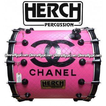 HERCH Bass Drum 22x24 Pink Channel 14-Lug