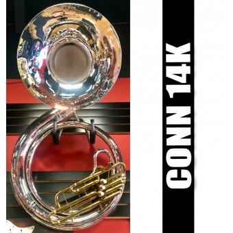 CONN 14K. Metal Sousaphone Silver-Plate Finish - REFURBISHED