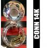 CONN 14K Tuba de Metal Plateada - RECONSTRUIDA