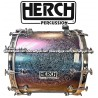 HERCH Bass Drum 20x24 Chameleon Color Effect Engraved 12-Lug