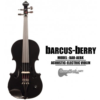BARCUS-BERRY Vibrato AE Series Violin Outfit - Black