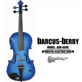 BARCUS-BERRY Vibrato AE Series Violin Outfit - Blue