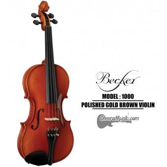 BECKER 1000 Series Polished Gold Brown Violin