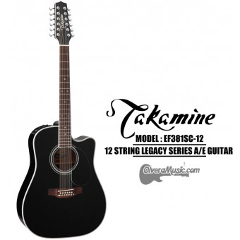 TAKAMINE Legacy Series Acoustic/Electric 12-String Guitar - Gloss Black
