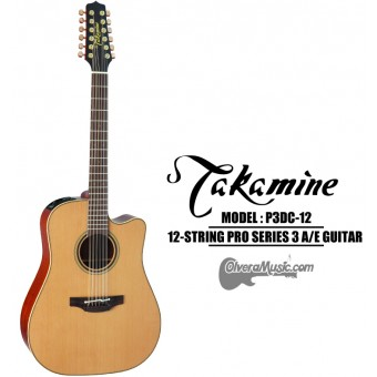 TAKAMINE Pro Series 3 Acoustic/Electric 12-String Guitar - Satin Natural