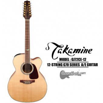 TAKAMINE 70 Series Acoustic/Electric 12-String Jumbo Guitar - Gloss Natural