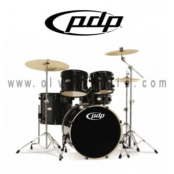 PDP Mainstage Series 5-Piece All Hardwood Drum Set - Black Metallic