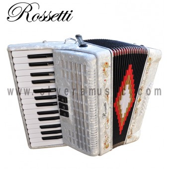 ROSSETTI Piano Accordion 32-Bass - Pearl White