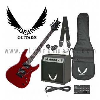 DEAN VENDETTA XMT METALLIC RED GUITAR AND AMP PACK