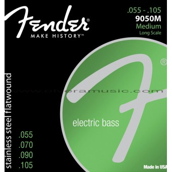 FENDER Stainless Steel Flatwound Electric Bass Strings